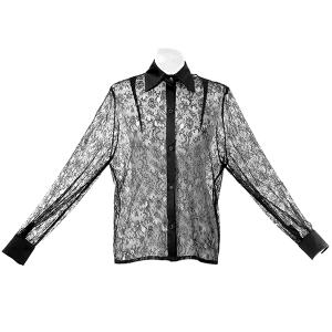 chemise dentelle noire
