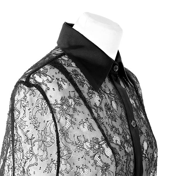 chemise en dentelle et soie