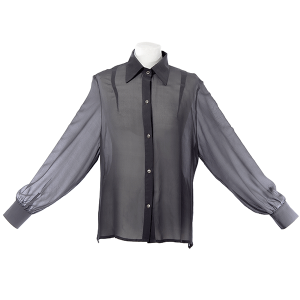 chemise mousseline de soie grise