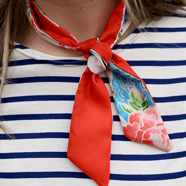 foulard cravate femme en soie