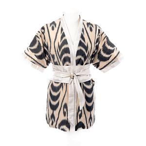 Kimono en ikat de soie reversible