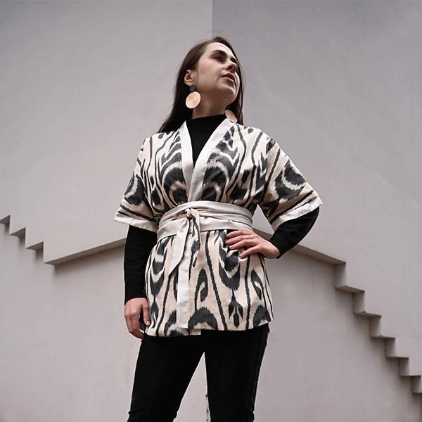 kimono ikat femme