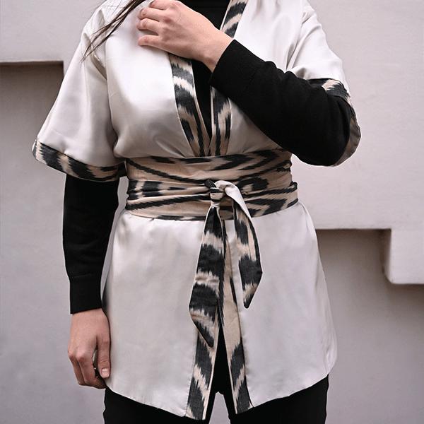 Kimono en ikat made in france