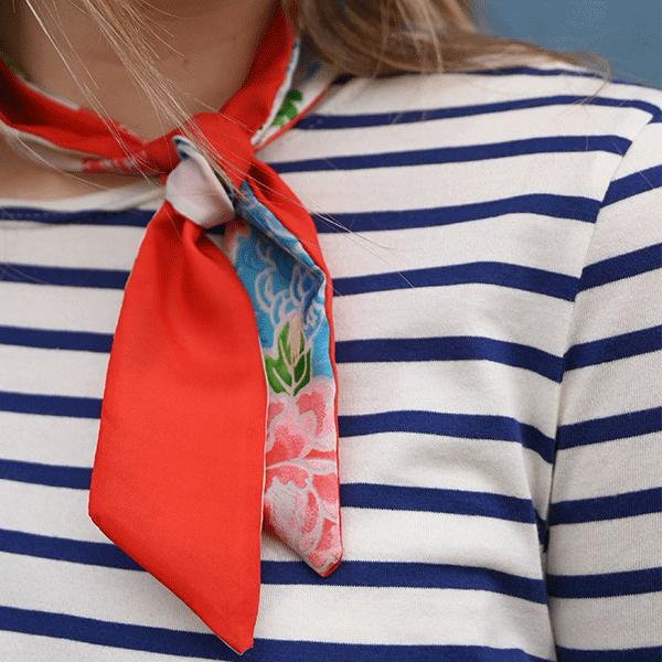 mariniere femme et foulard soie