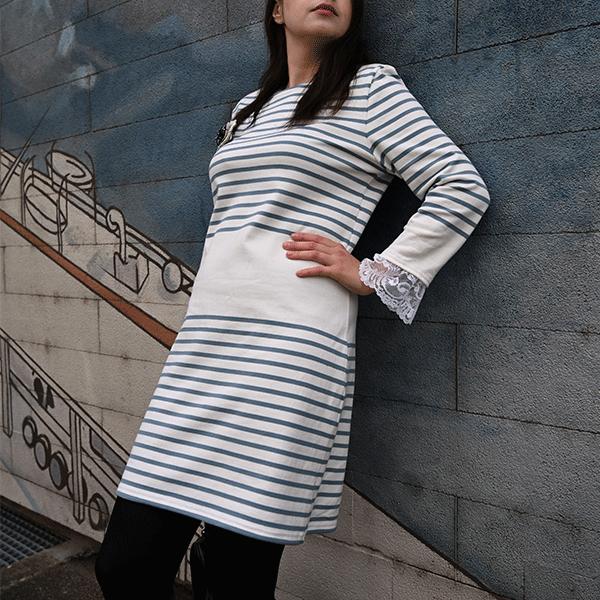 robe mariniere pour femme en coton