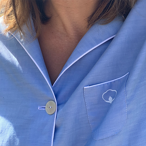 chemise pyjama pour femme bleu ciel