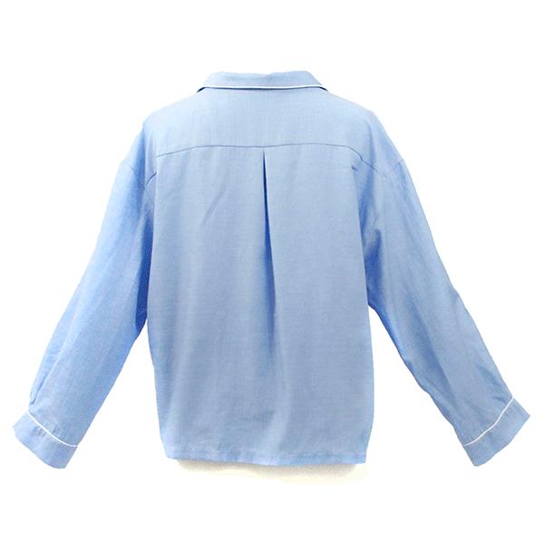 chemise pyjama de dos passepoils