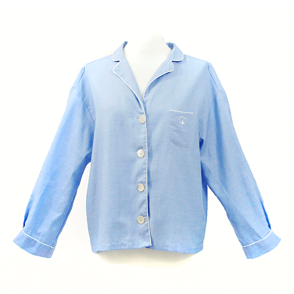 chemise style pyjama bleu ciel