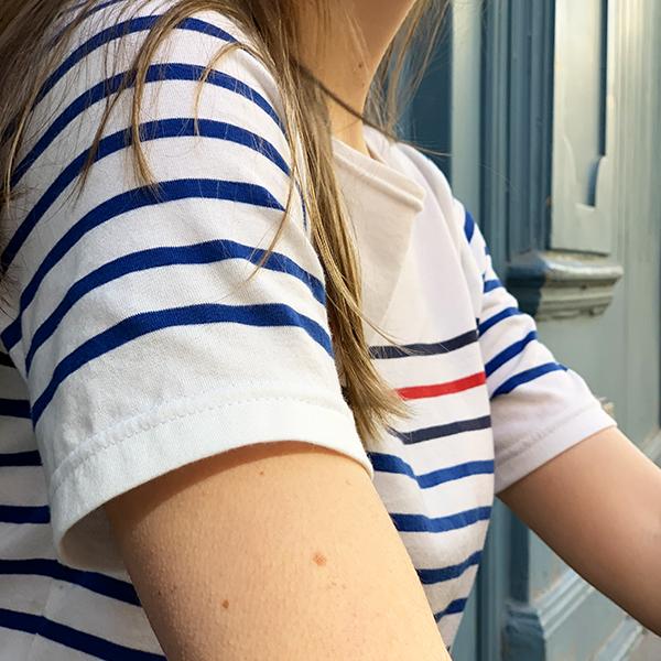 tee shirt mariniere-manches-courtes
