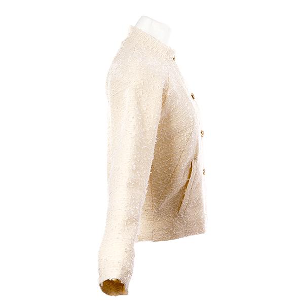Veste bomber en tweed beige