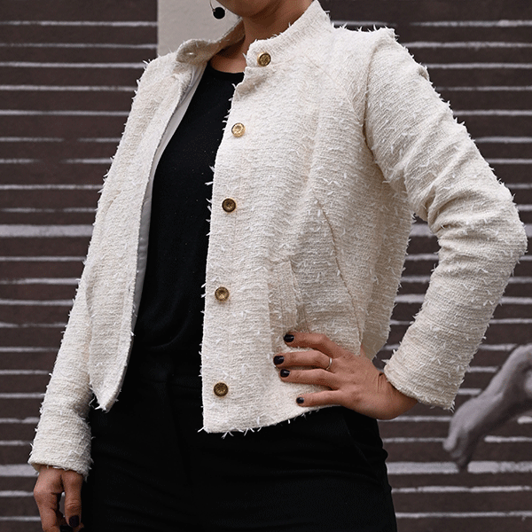 veste en tweed pour femme