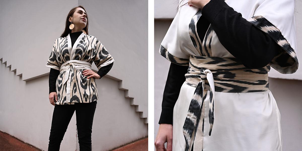 kimono en ikat